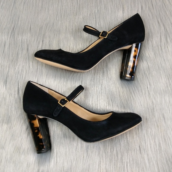 b1275eab66e7 Lands  End Shoes - Land s End Mary Jane Tortoise Block Heels